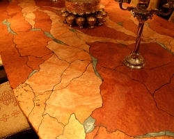 Detail of the dining room table