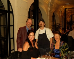Redbird Owner/Chef Neal Frasier with Judy Lombard, Jim and Jodie Rea