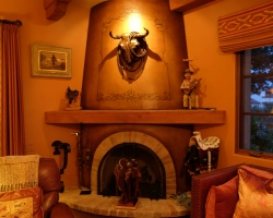 Artifacts around the fireplace