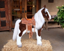 And a 1/4 size stuffed horse that moves on command