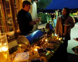 The mashed potato martini serving station