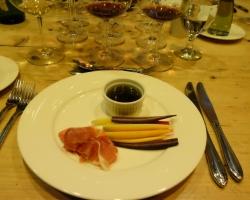 Bagna Calda, Tri Color Spring Carrots, Watermelon Radish, Sweet Peppers, Prosciutto, Ciabatta