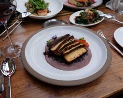 Smoked Tofu - beluga lentils, swiss chard, black truffle