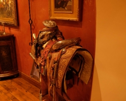Historic saddle in the dining room